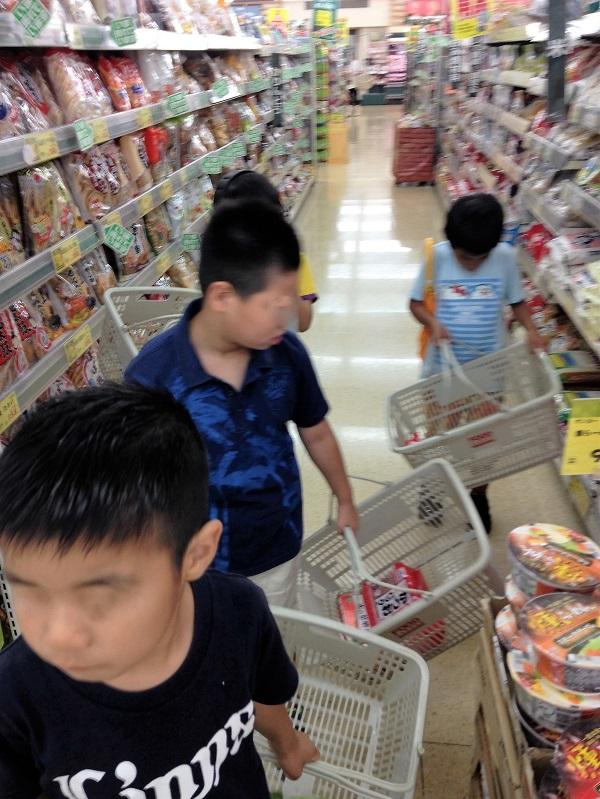 児童デイ 買い物